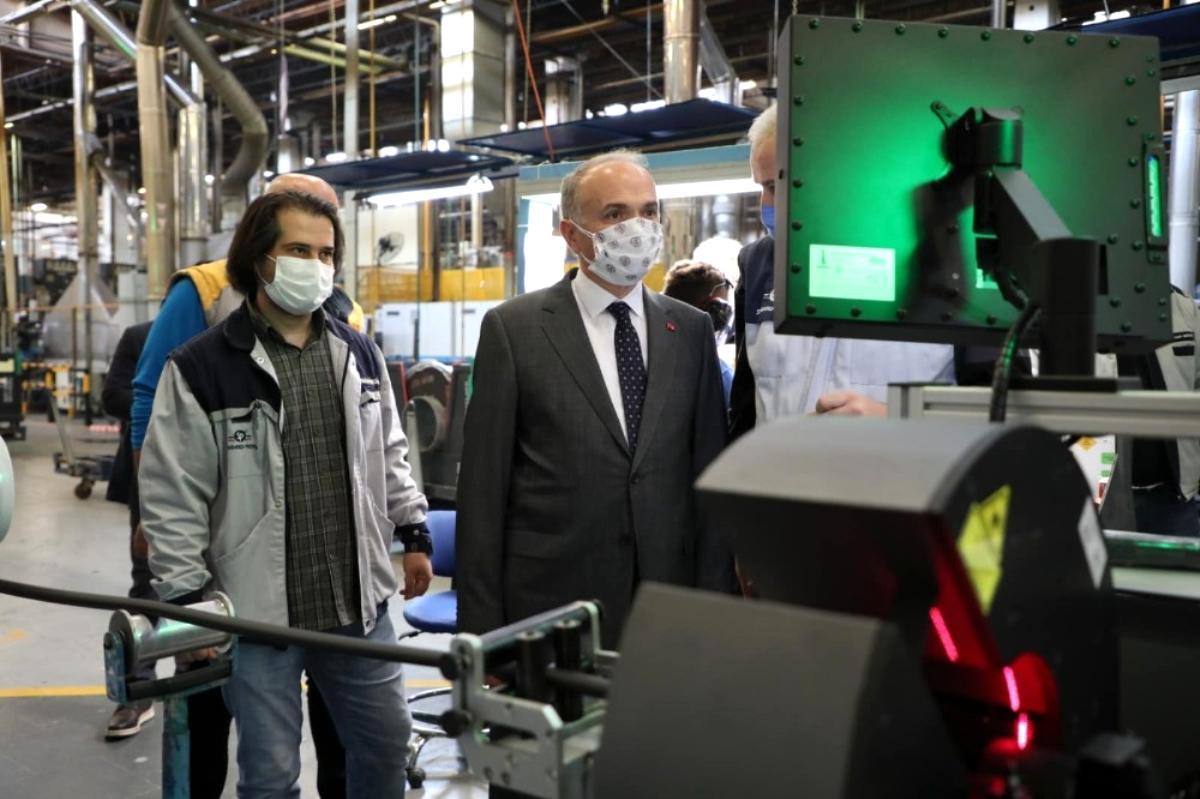 Başkan Özlü Standart Profil fabrikasında incelemelerde bulundu