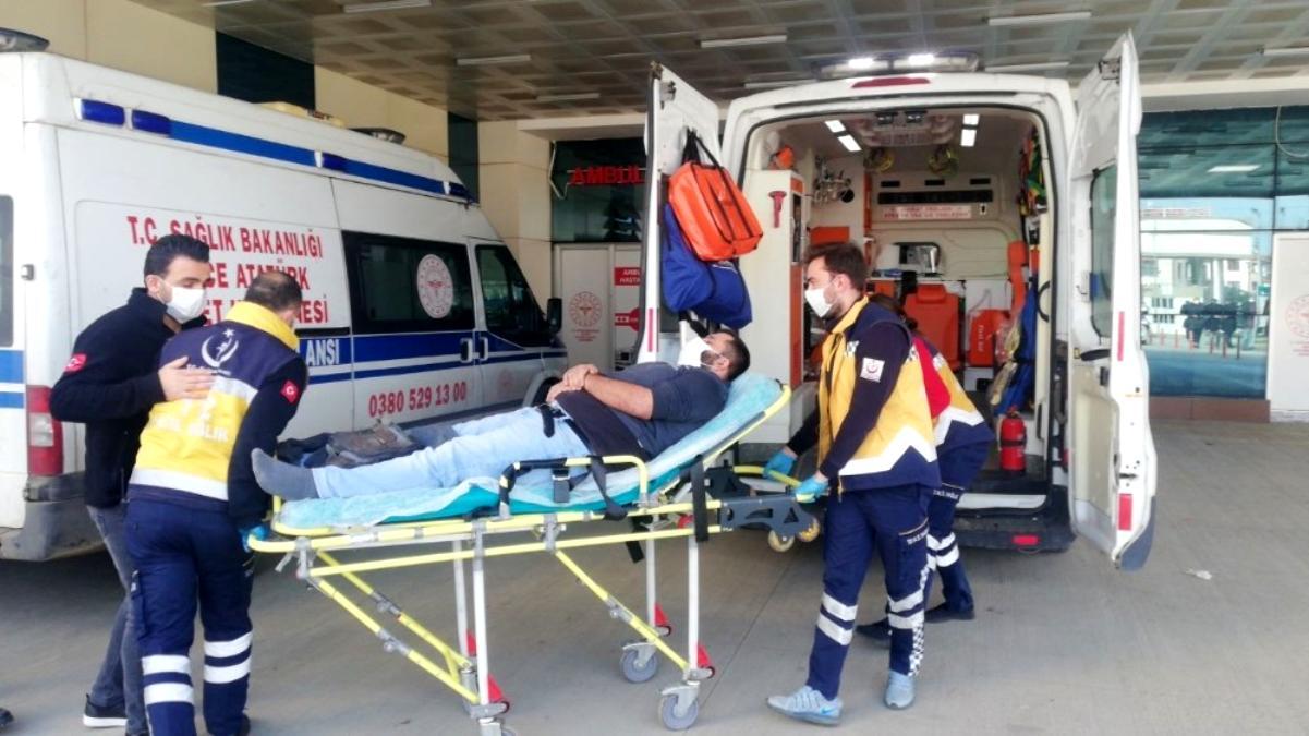 Hava basılan lastik patlayınca tamirci yaralandı